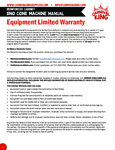 Carnival King 1 Year Limited Warranty