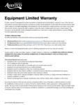 Avantco Equipment Commercial Meat Tenderizers Warranty