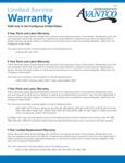 Avantco Ref Limited Service Warranty