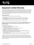 Avantco Warranty - 1 Year