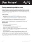 Avantco Equipment Limited Warranty