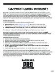 Backyard Pro Butcher Series 30 Day Warranty