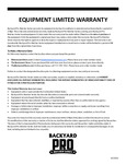 BackyardPro Butcher Series 6-month Warranty