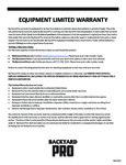 Backyard Pro Warranty