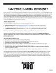 Backyard Pro Warranty 6 Months