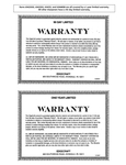 Edgecraft's Warranty Information