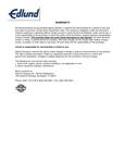 Edlund's Warranty Information