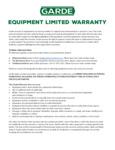 Garde 1 Year Warranty