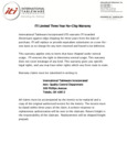 International Tableware Chip Warranty