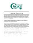 Choice ARA200 Mats_Limited Warranty