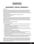 Narvon Equipment Limited Warranty