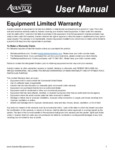 Steam Table Warranty