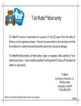 Tot Mate Warranty