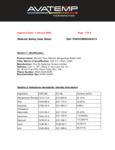 AvaTemp SDS Sheet