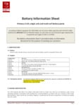 Cardiac Science XBTAED001A 4-Year Intellisense Battery Safety Data Sheet