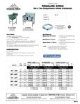 Regaline 1 & 2 Compartment Sinks Spec Sheet