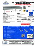 Advance Tabco FS-WM-100-ADA, FS-WM-100-ADA-F Specsheet