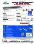 Advance Tabco FS-WM-120-ADA, FS-WM-120-ADA-F Specsheet