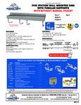 Advance Tabco FS-WM-100, FS-WM-100-F Specsheet