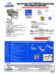 Advance Tabco FS-WM-2219-F, FS-WM-2219 Specsheet
