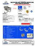 Advance Tabco FS-WM-2721, FS-WM-2721-F Specsheet