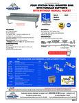 Advance Tabco FS-WM-80, FS-WM-80-F Specsheet