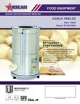 Garlic Peeler Spec Sheet