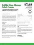 Noble Chemical Griddle Kleen 14 oz.  Polish Powder Spec Sheet