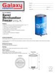 Wrapped Barrel Merchandiser Freezer Spec Sheet