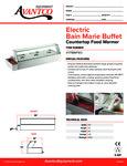 177BMFW3 Avantco Bain Marie Food Warmer Specsheet