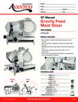 Avantco SL512 Meat Slicer Specsheet