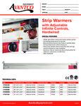 177SWIN Avantco Strip Warmers Specsheet
