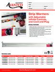 177SWINCP Avantco Strip Warmers Specsheet