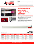177SWT Avantco Strip Warmers Specsheet