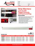 177SWTCP Avantco Strip Warmers Specsheet