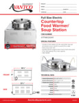 Avantco 177WK1200411 Countertop Food Warmer/Soup Station