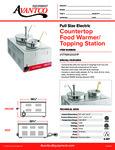 Avantco 177WK120047P Countertop Food Warmer/Topping Station
