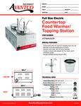 Avantco 177WK12007P Countertop Food Warmer/Topping Station