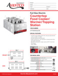 Avantco 177WK15002X6 Countertop Food Cooker/Warmer/Topping Station