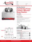 Avantco 177WK1500411 Countertop Food Cooker/ Warmer/Soup Station