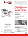 Avantco 177WK150047P Countertop Food Cooker/Warmer/Topping Station