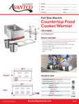 Avantco 177WK15007P Countertop Food Cooker/Warmer