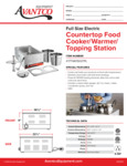 Avantco 177WK15007PL Countertop Food Cooker/Warmer/Topping Station