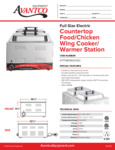 Avantco 177WK1500CW2 Countertop Food/Chicken Wing Cooker/ Warmer Station