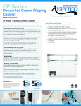 CP Series Deluxe Ice Cream Dipping Cabinet Spec Sheet