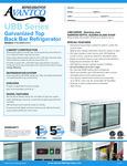 UBB60SGTS Specs