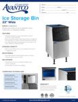 194BIN23022 Avantco 22 Inch Ice Bin Spec Sheet