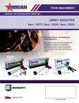 Omcan Jerky Shooter Spec Sheet
