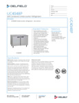 305UC4048P Delfield UC4048P Undercounter Refrigerator Specsheet