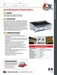 CPG Lava Briquette Charbroilers